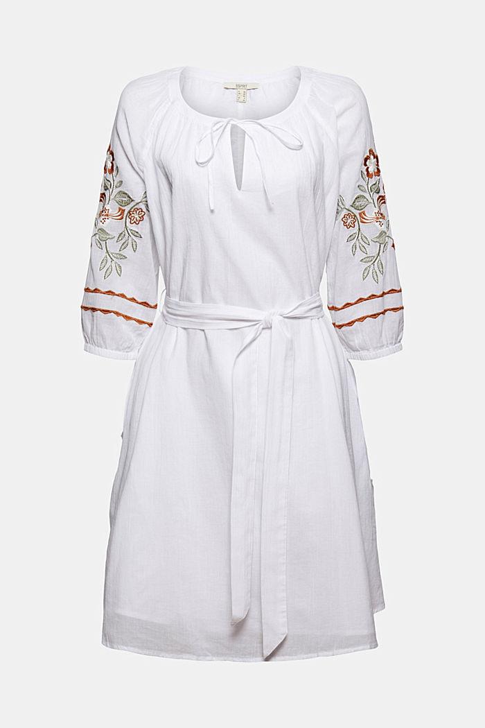 Vestido tipo túnica bordado, 100% algodón ecológico