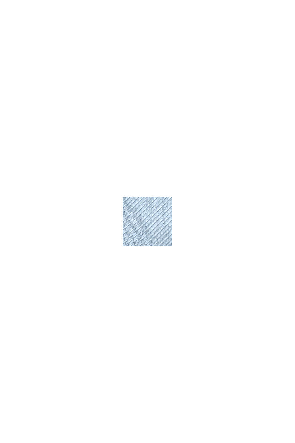 In TENCEL™: abito con ricamo traforato, BLUE LIGHT WASHED, swatch