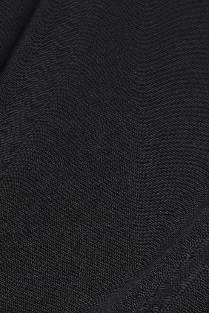 Jersey dress with broderie anglaise, modal blend, BLACK, detail image number 4