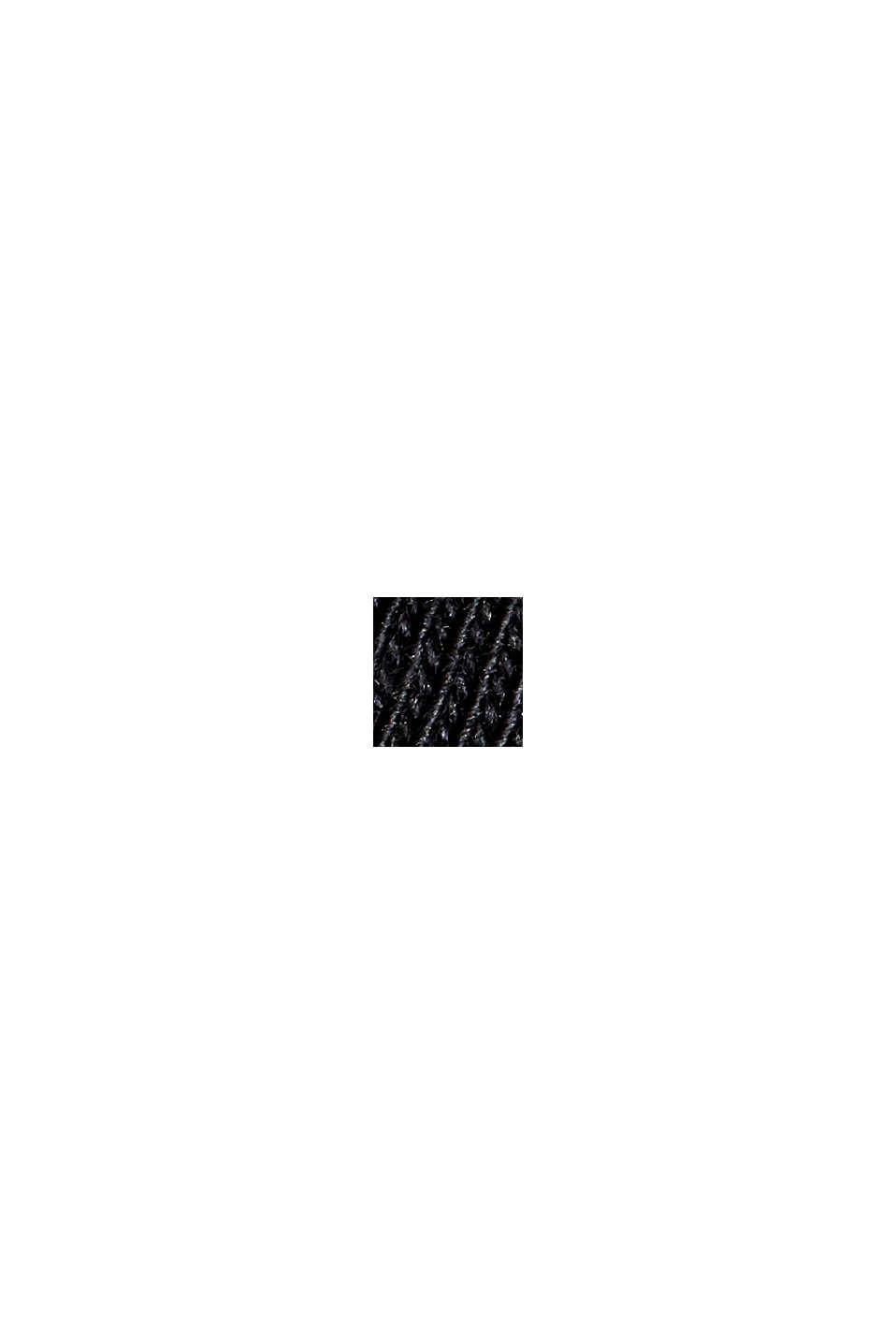Midiklänning med knytbara axelband, 100% ekobomull, BLACK, swatch