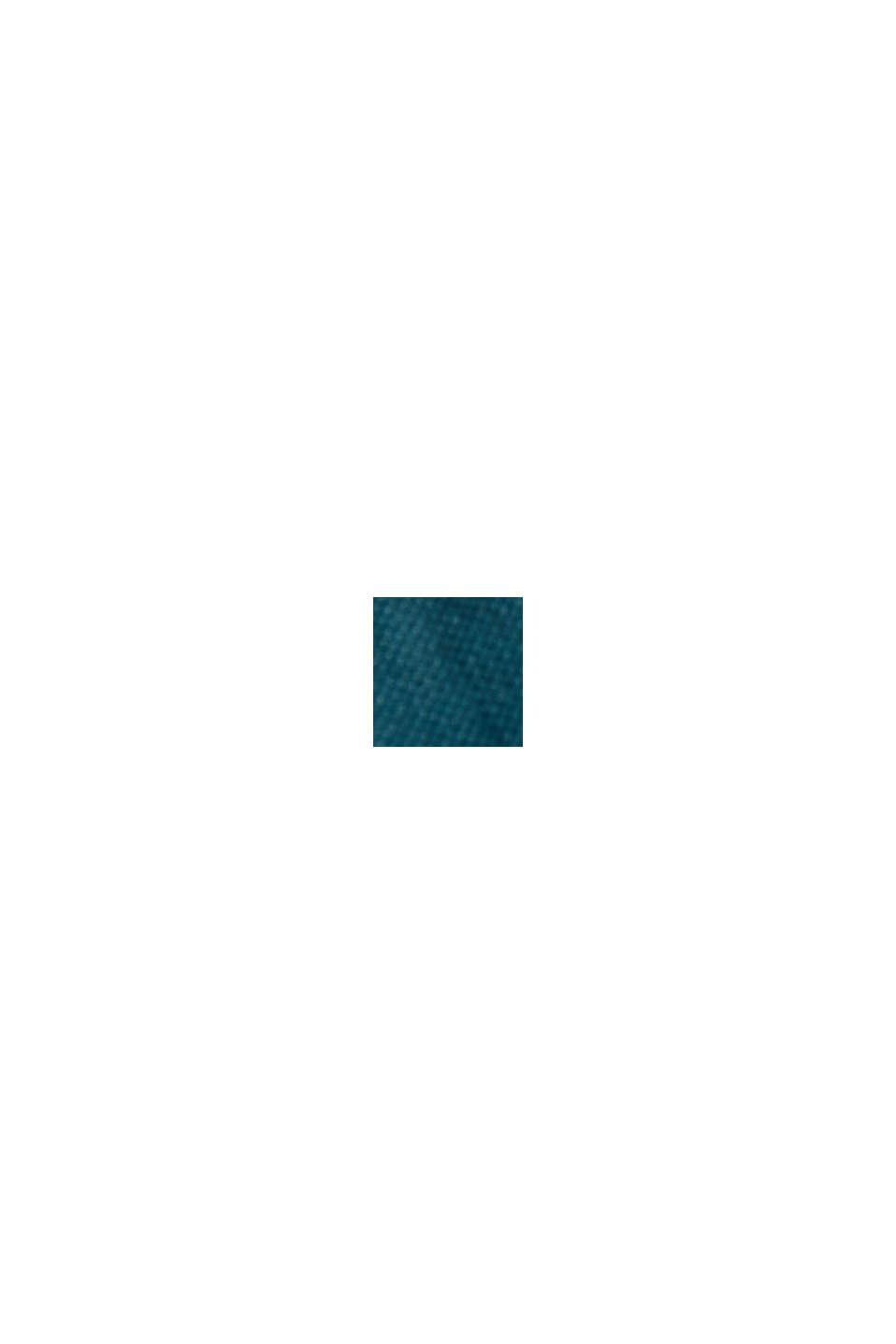 Jurk met ceintuur van LENZING™ ECOVERO™, TEAL GREEN, swatch