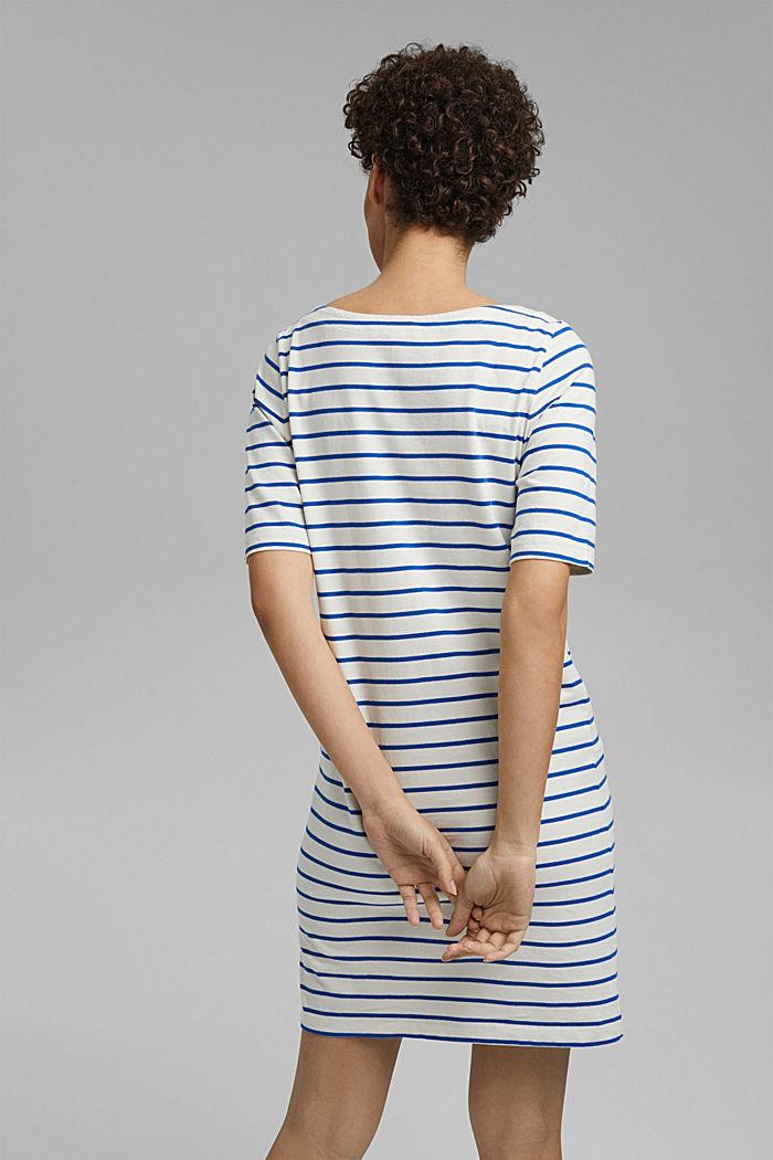 Gestreiftes Jerseykleid aus 100% Bio-Baumwolle, OFF WHITE, detail image number 2