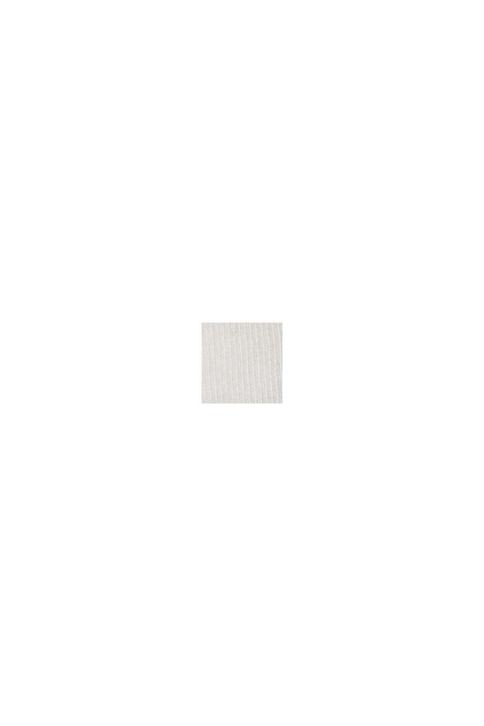 Gestreiftes Jerseykleid aus 100% Bio-Baumwolle, OFF WHITE, swatch