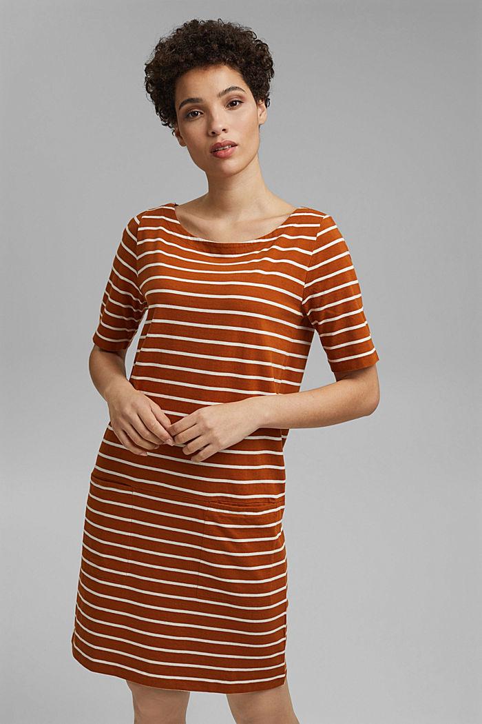 Gestreiftes Jerseykleid aus 100% Bio-Baumwolle