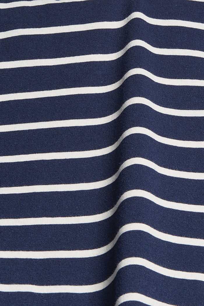 Striped jersey dress made of 100% organic cotton, NAVY, detail image number 5
