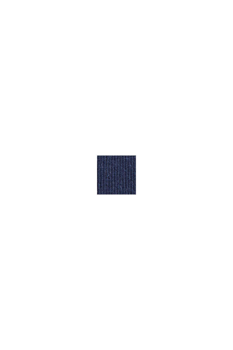 Gestreiftes Jerseykleid aus 100% Bio-Baumwolle, NAVY, swatch