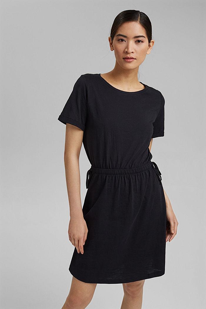 Žerzejové šaty ze 100% bio bavlny, BLACK, detail image number 0
