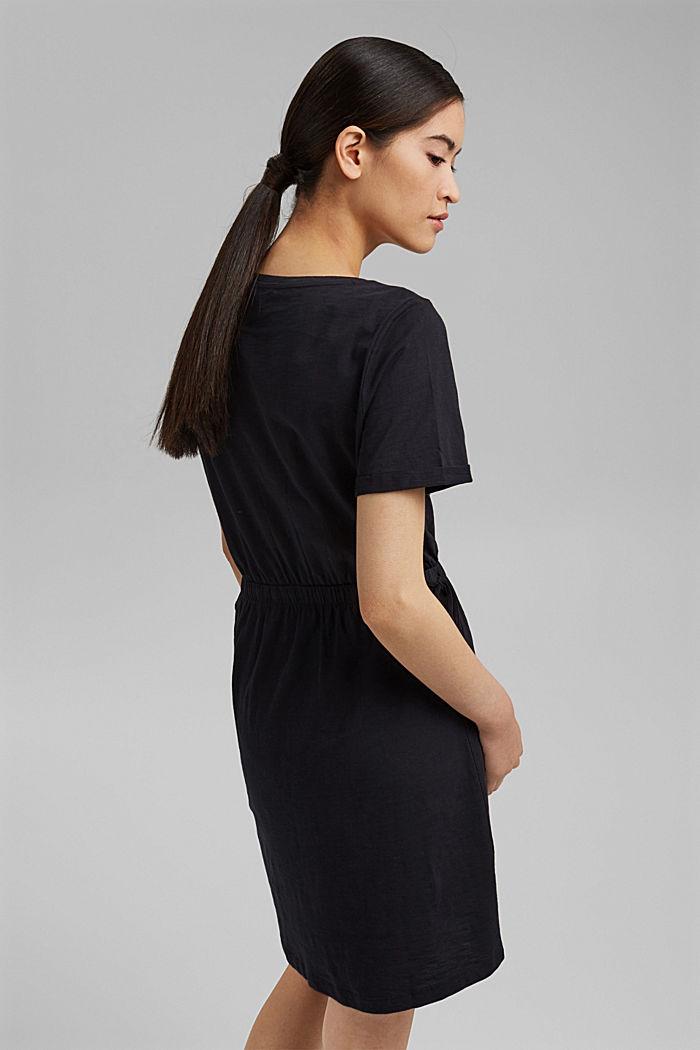 Žerzejové šaty ze 100% bio bavlny, BLACK, detail image number 2