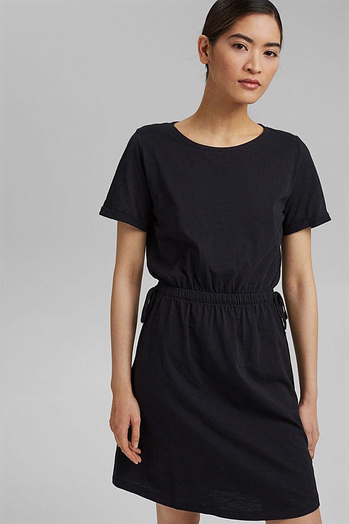 Žerzejové šaty ze 100% bio bavlny, BLACK, detail image number 5