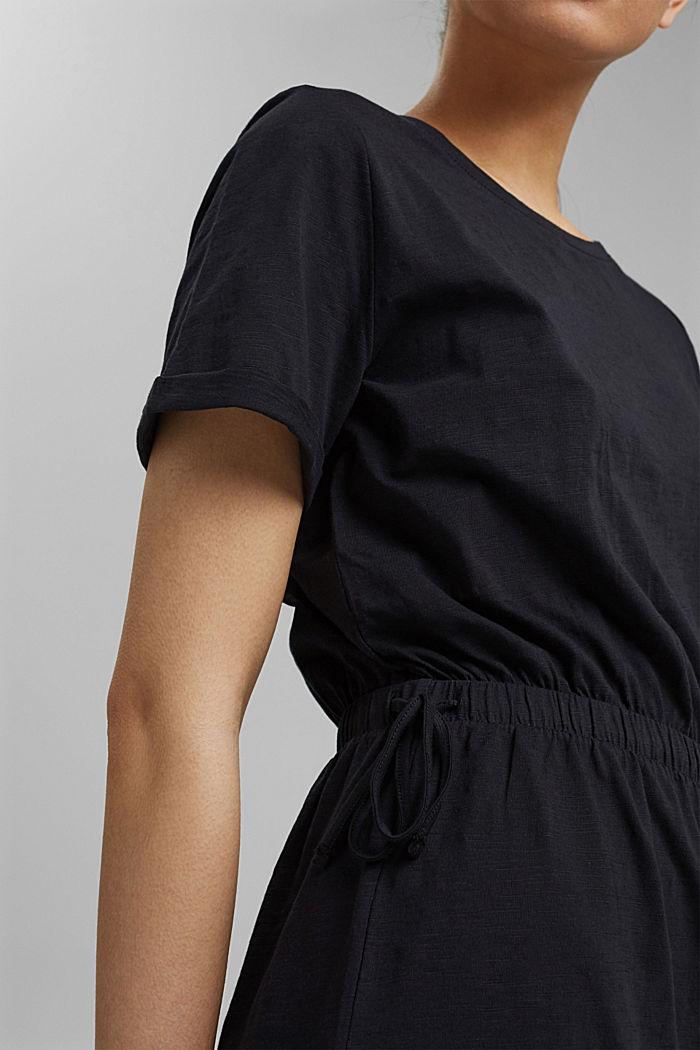 Žerzejové šaty ze 100% bio bavlny, BLACK, detail image number 3