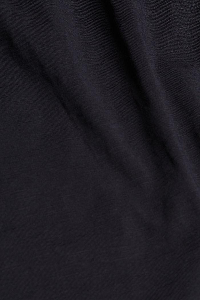 Žerzejové šaty ze 100% bio bavlny, BLACK, detail image number 4