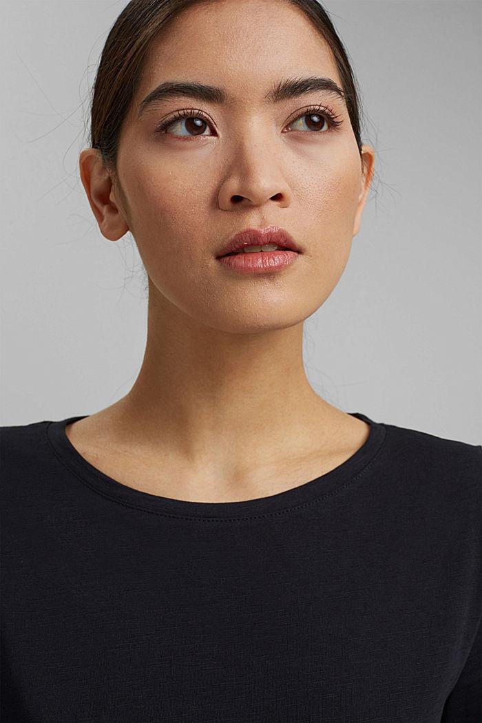 Žerzejové šaty ze 100% bio bavlny, BLACK, detail image number 6