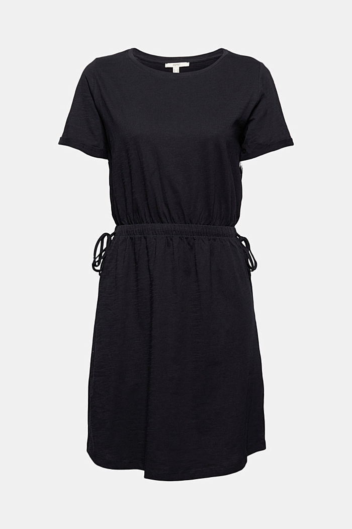 Žerzejové šaty ze 100% bio bavlny, BLACK, detail image number 7
