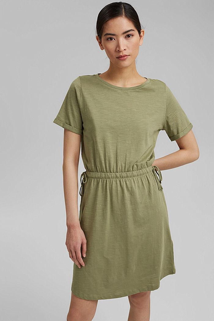 Jersey dress made of 100% organic cotton, LIGHT KHAKI, detail image number 0