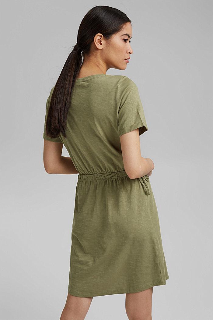 Jersey dress made of 100% organic cotton, LIGHT KHAKI, detail image number 2