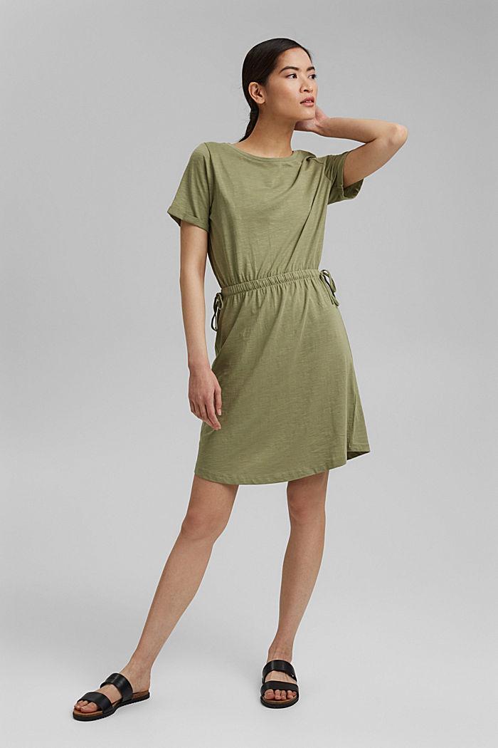 Jersey dress made of 100% organic cotton, LIGHT KHAKI, detail image number 1