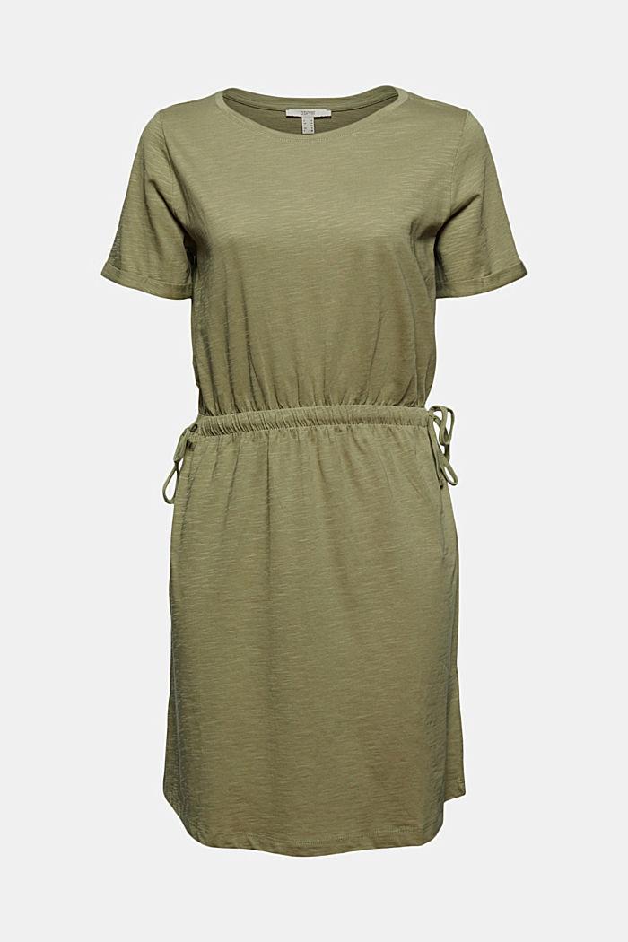 Jersey dress made of 100% organic cotton, LIGHT KHAKI, detail image number 5