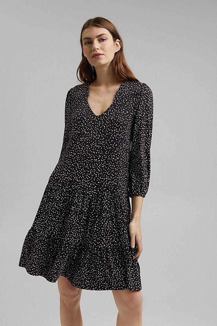 Jersey dress made of LENZING™ ECOVERO™, BLACK, detail image number 0