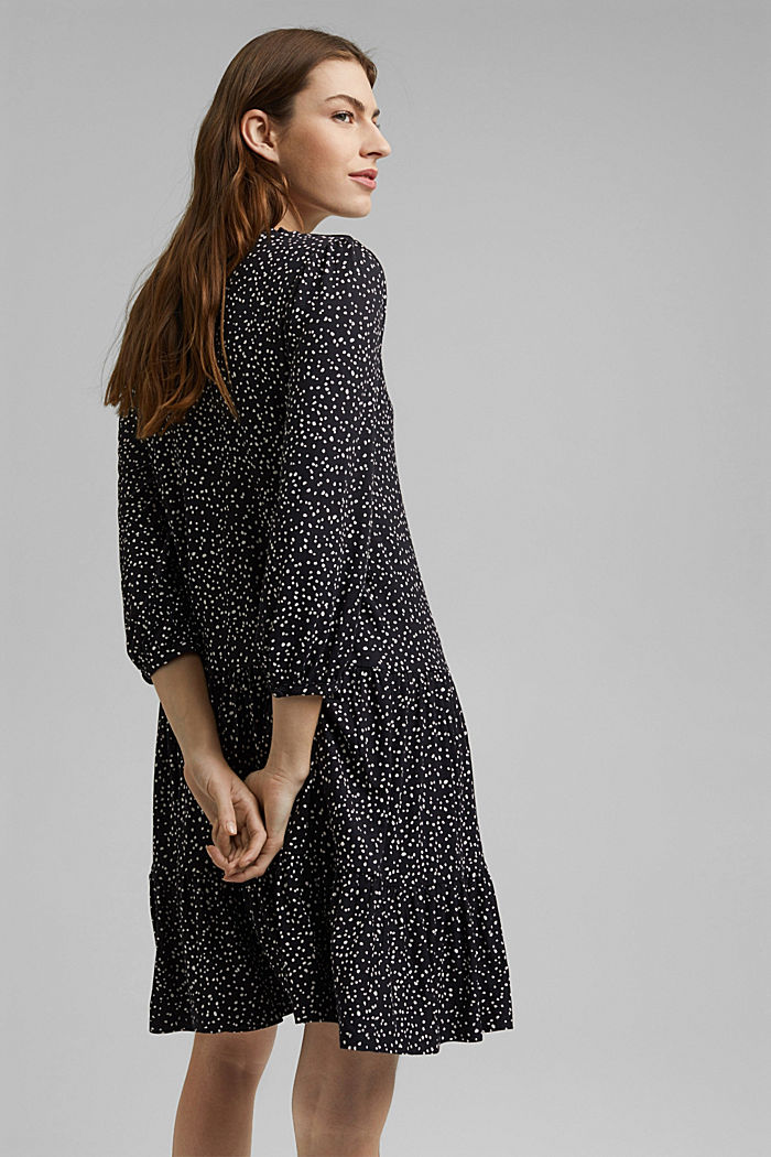Jersey dress made of LENZING™ ECOVERO™, BLACK, detail image number 2