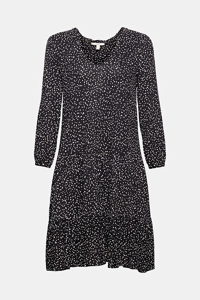 Jersey dress made of LENZING™ ECOVERO™, BLACK, detail image number 6