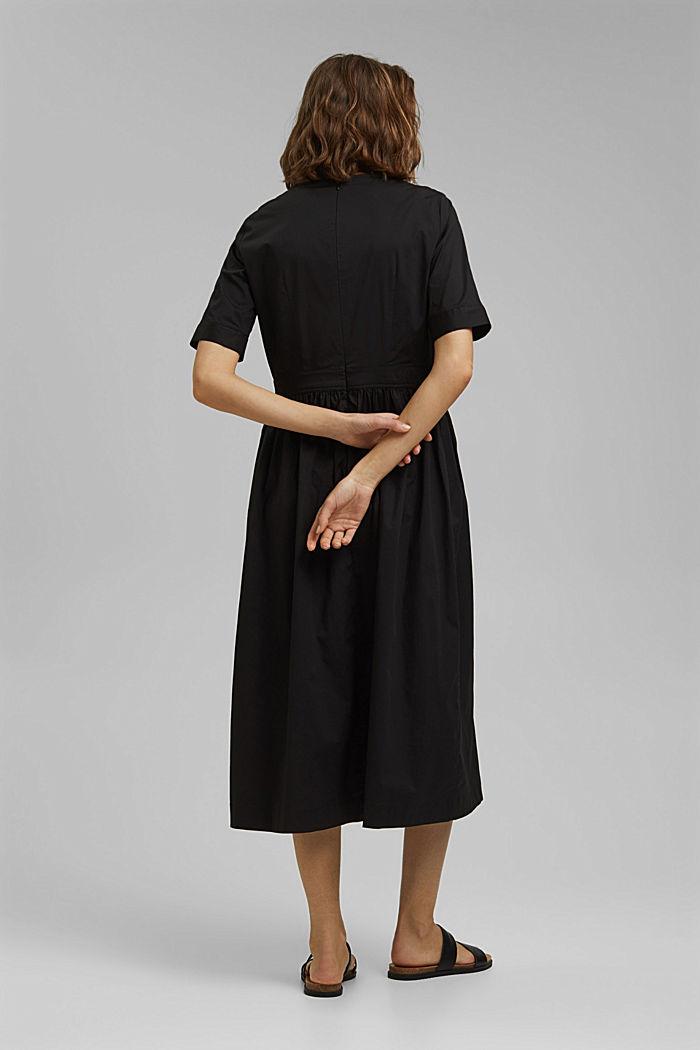Popeline-Midikleid aus Organic Cotton, BLACK, detail image number 2