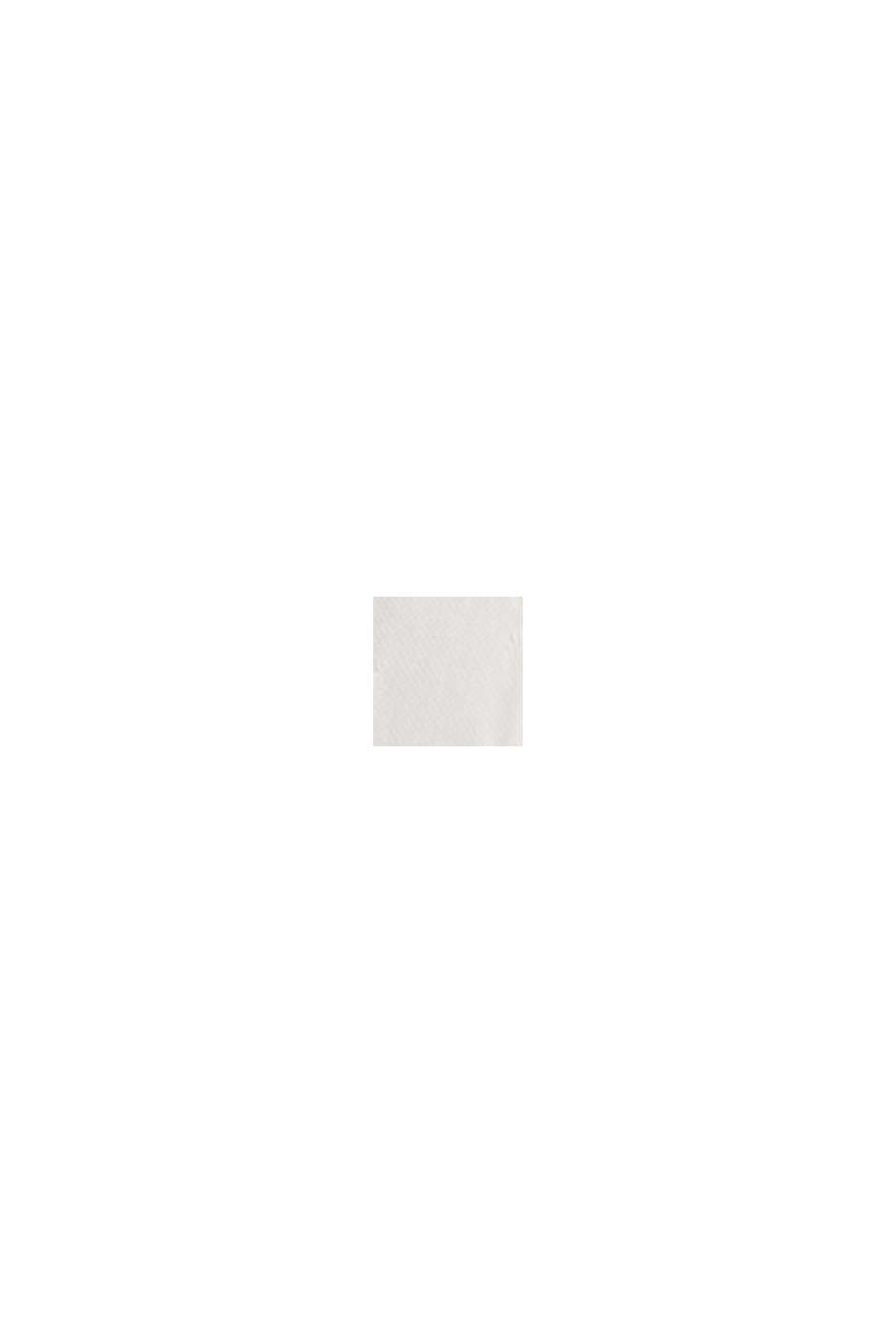 Top blusato con volant, LENZING™ ECOVERO™, OFF WHITE, swatch