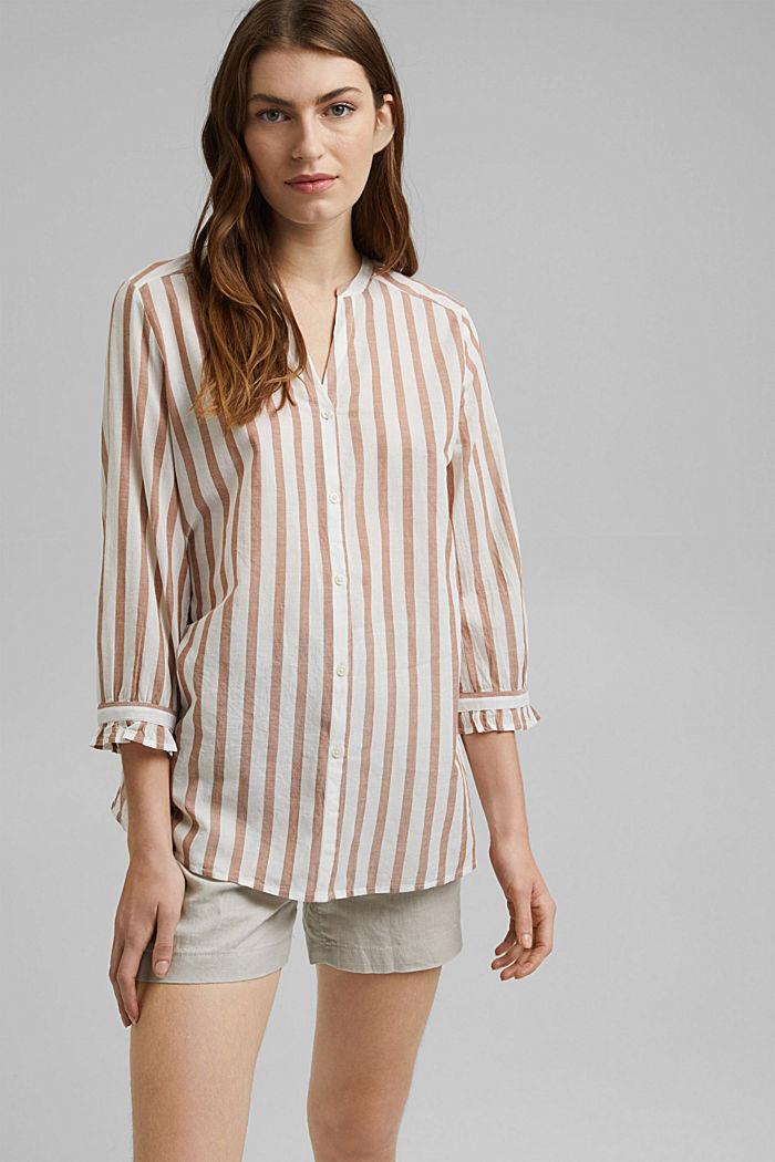 Leichte Streifen-Bluse, 100% Bio-Baumwolle