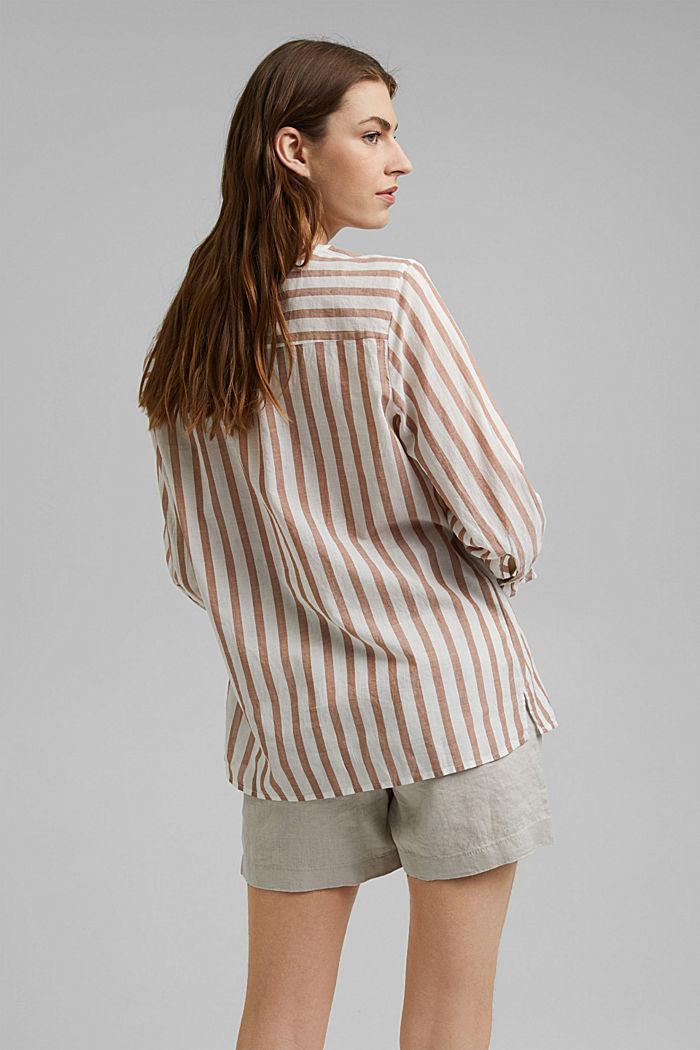 Lightweight striped blouse, 100% organic cotton, CARAMEL, detail image number 3