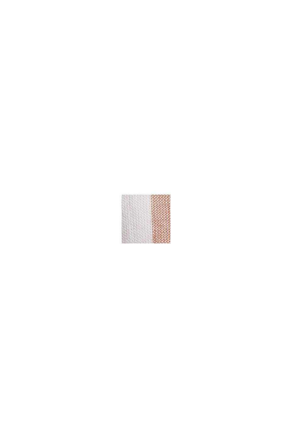 Leichte Streifen-Bluse, 100% Bio-Baumwolle, CARAMEL, swatch
