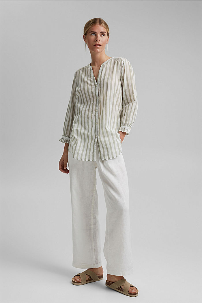 Lightweight striped blouse, 100% organic cotton