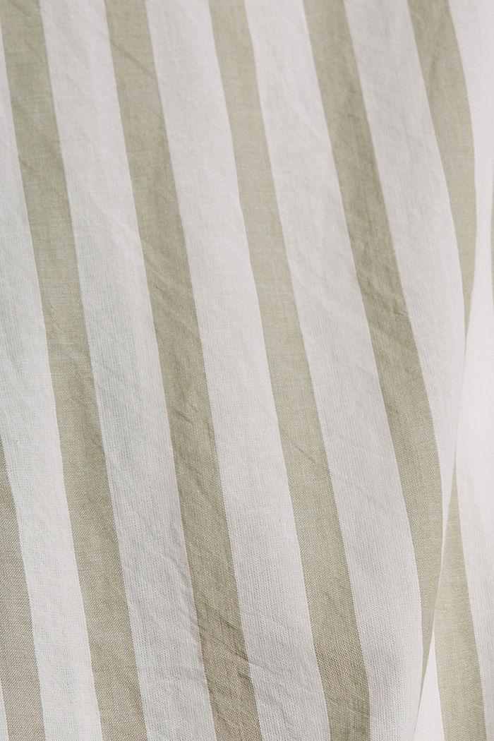 Lightweight striped blouse, 100% organic cotton, LIGHT KHAKI, detail image number 4