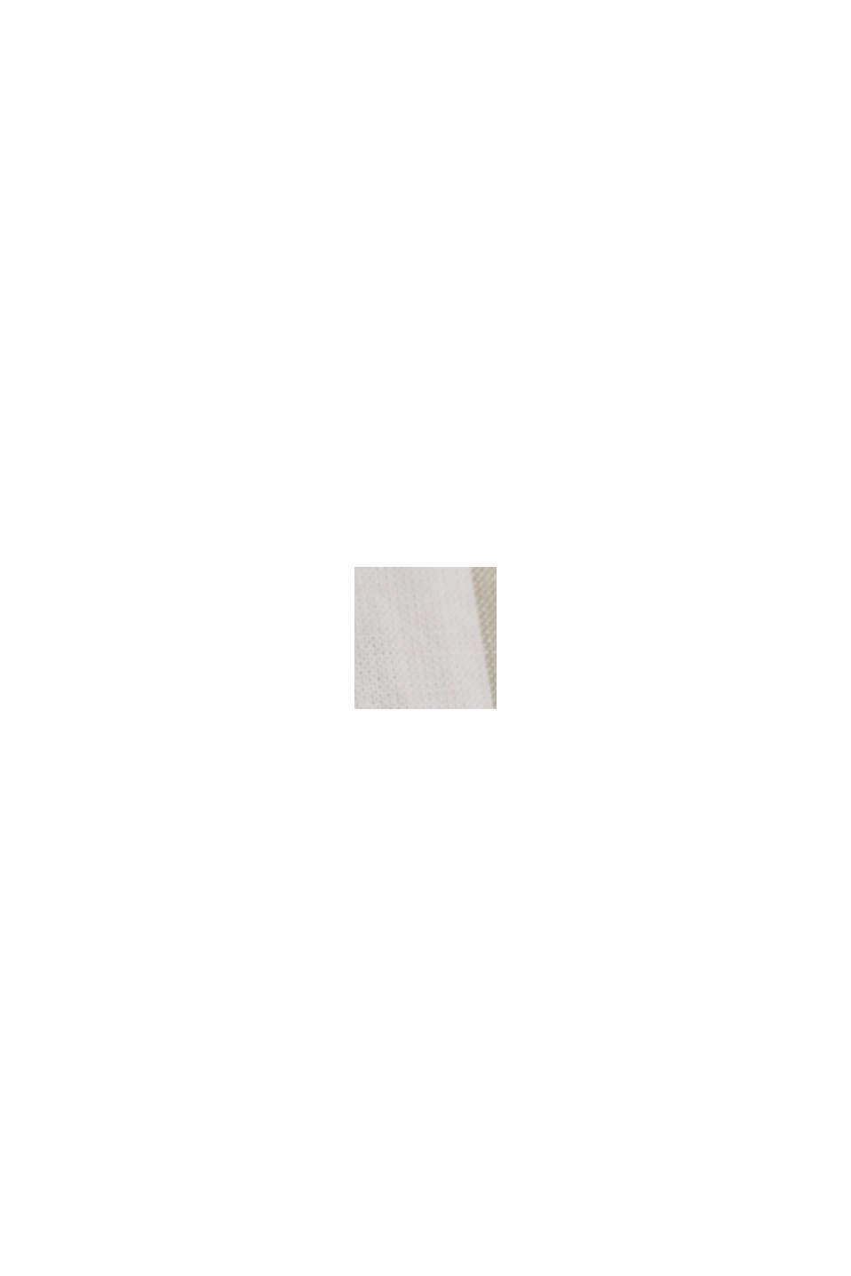 Leichte Streifen-Bluse, 100% Bio-Baumwolle, LIGHT KHAKI, swatch