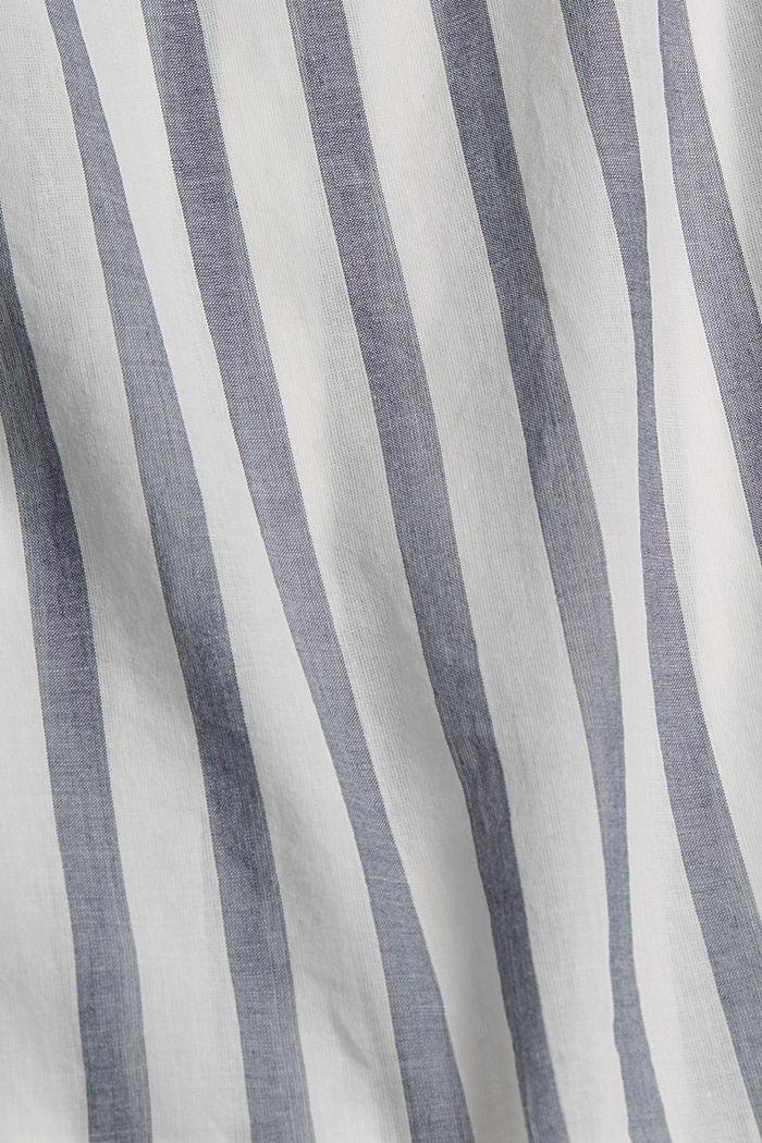 Blusa ligera con diseño a rayas, 100 % algodón ecológico, NAVY, detail image number 4
