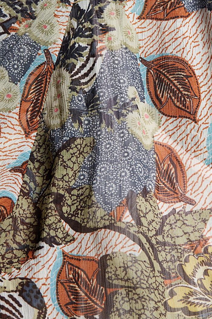Chemisier en mousseline doté d'un top, imprimé botanique, TURQUOISE, detail image number 4