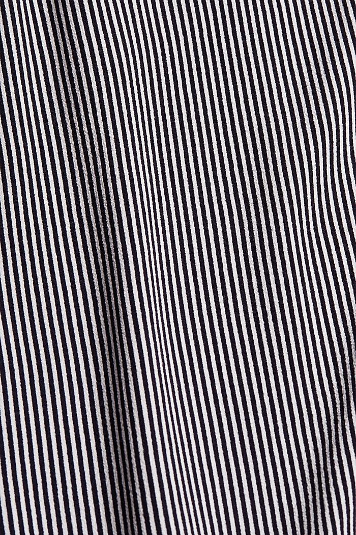 Gestreifte Crêpe-Bluse mit LENZING™ ECOVERO™, NAVY, detail image number 4