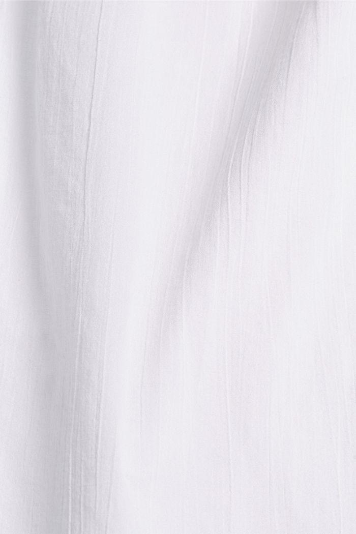 Blusa con bordado, 100 % algodón ecológico, WHITE, detail image number 4