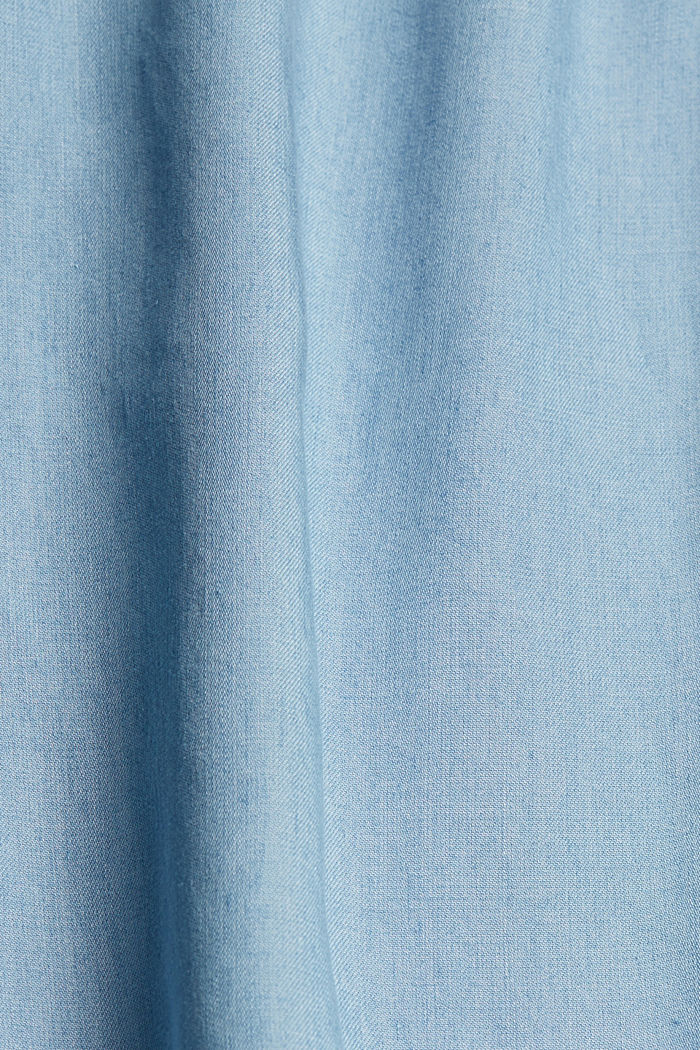 Made of TENCEL™: Denim blouse with embroidery, BLUE LIGHT WASHED, detail image number 4