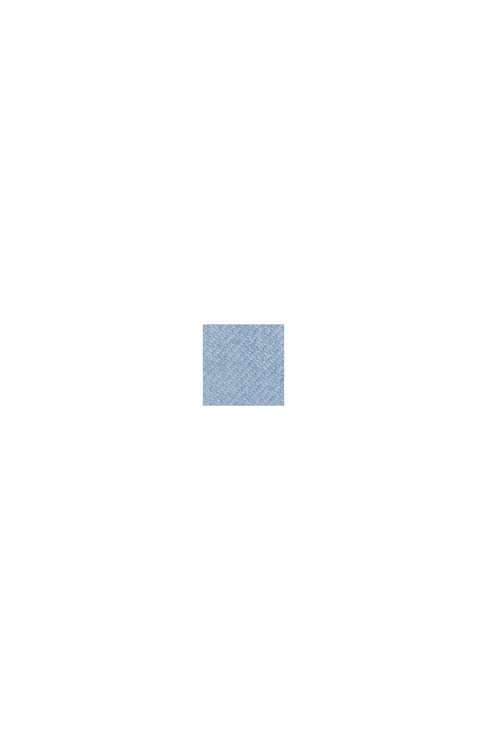 Z włókna TENCEL™: dżinsowa bluzka z haftem, BLUE LIGHT WASHED, swatch