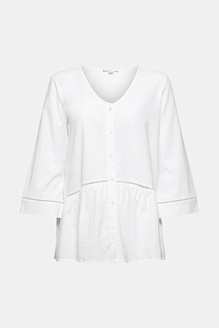 Containing hemp: peplum blouse