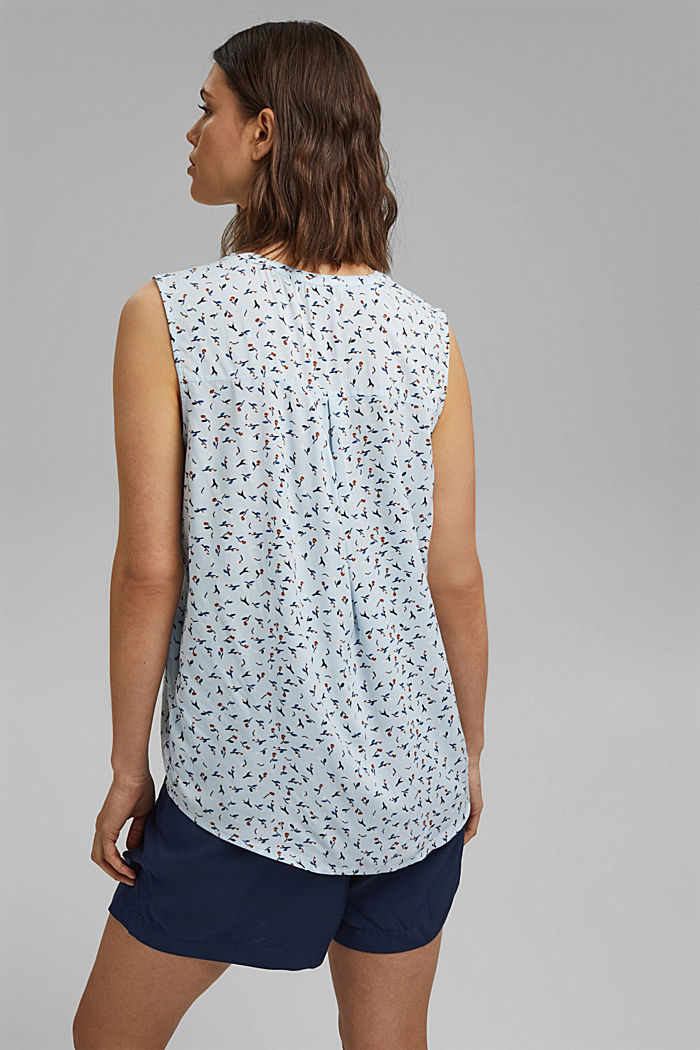 Blouse top made of LENZING™ ECOVERO™, LIGHT BLUE, detail image number 3