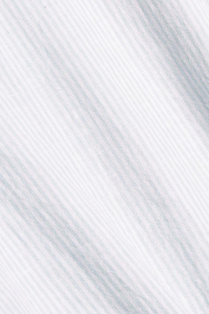 Linen blend: vertically striped blouse, LIGHT AQUA GREEN, detail image number 4