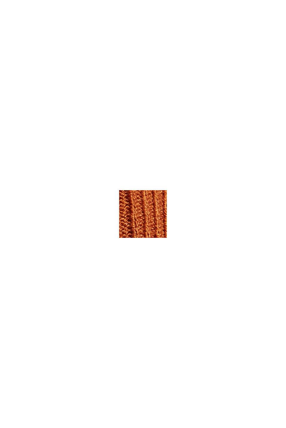 Linen blend: textured stripe T-shirt, CARAMEL, swatch