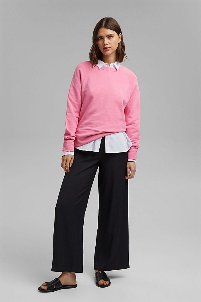 Sweatshirt aus 100% Baumwolle, PINK, detail image number 1