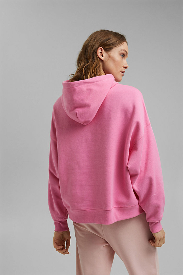 Boxy hoodie made of 100% cotton, PINK, detail image number 3