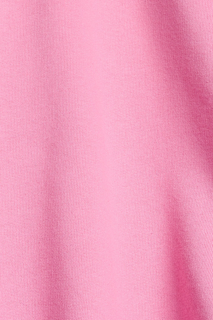 Boxy hoodie made of 100% cotton, PINK, detail image number 4