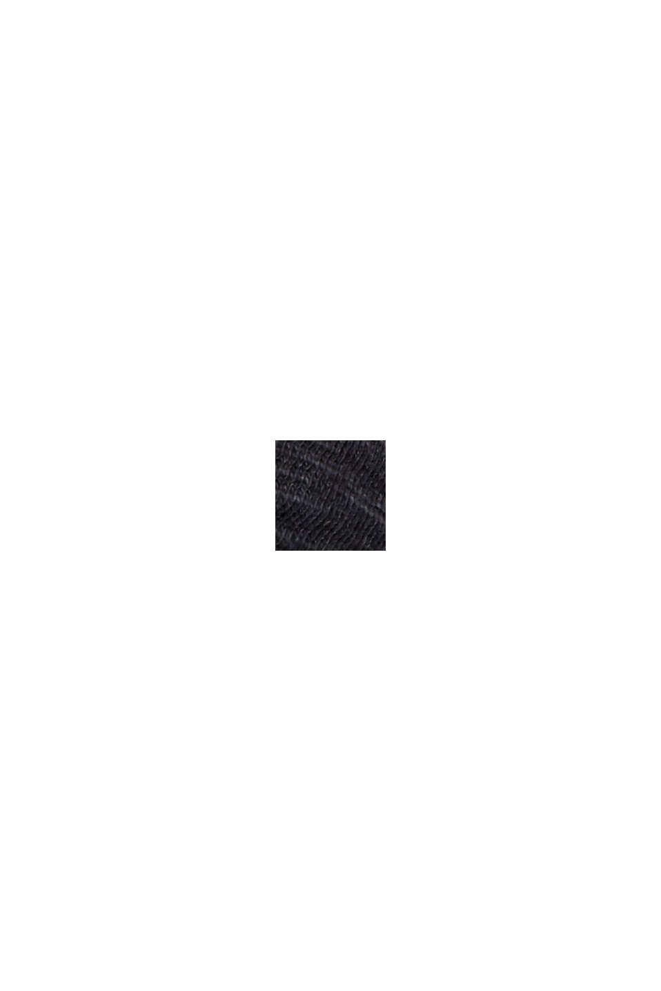 Camiseta con ribetes, 100 % algodón ecológico, BLACK, swatch