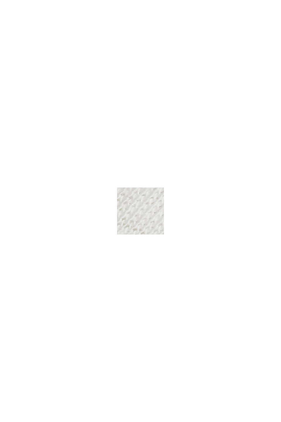 Camiseta con ribetes, 100 % algodón ecológico, OFF WHITE, swatch