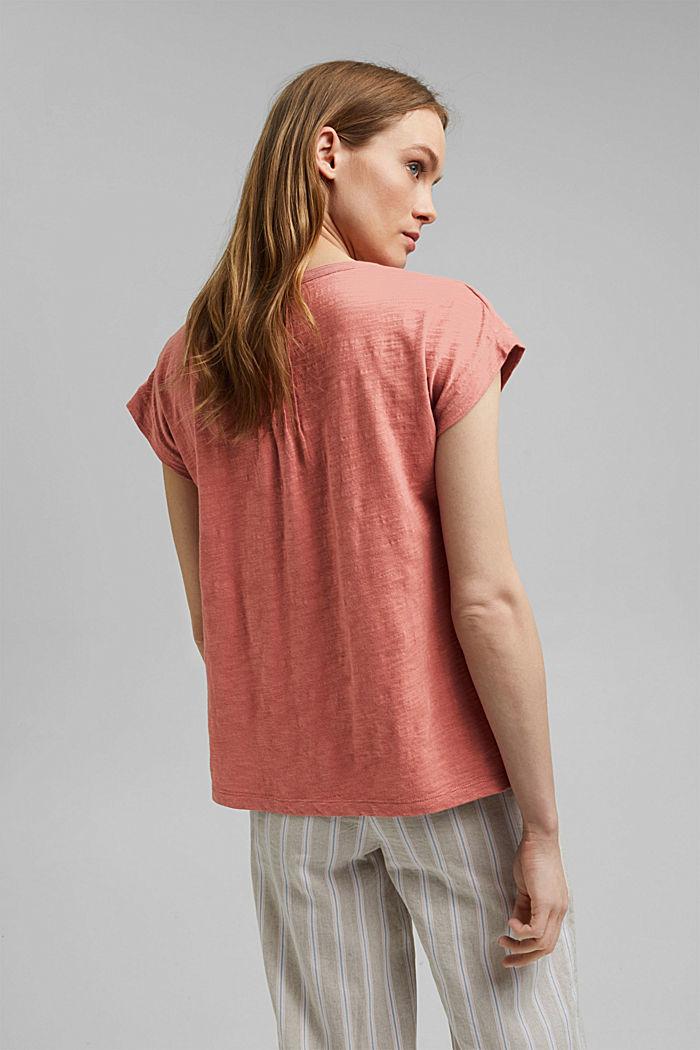 T-shirt with pintucks, 100% organic cotton, BLUSH, detail image number 3