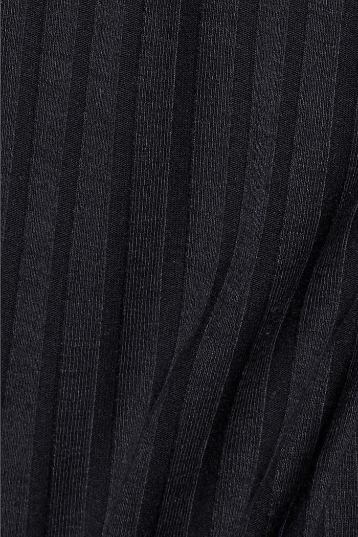 Recycelt: Spaghetti-Top aus Ripp-Jersey, BLACK, detail image number 4