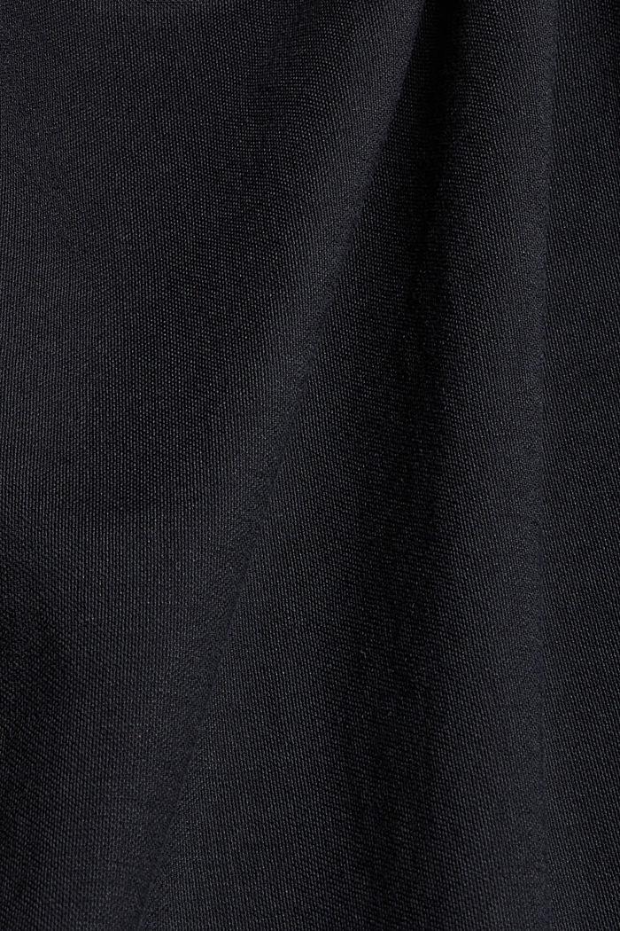 Frilled jersey top, LENZING™ ECOVERO™, BLACK, detail image number 4